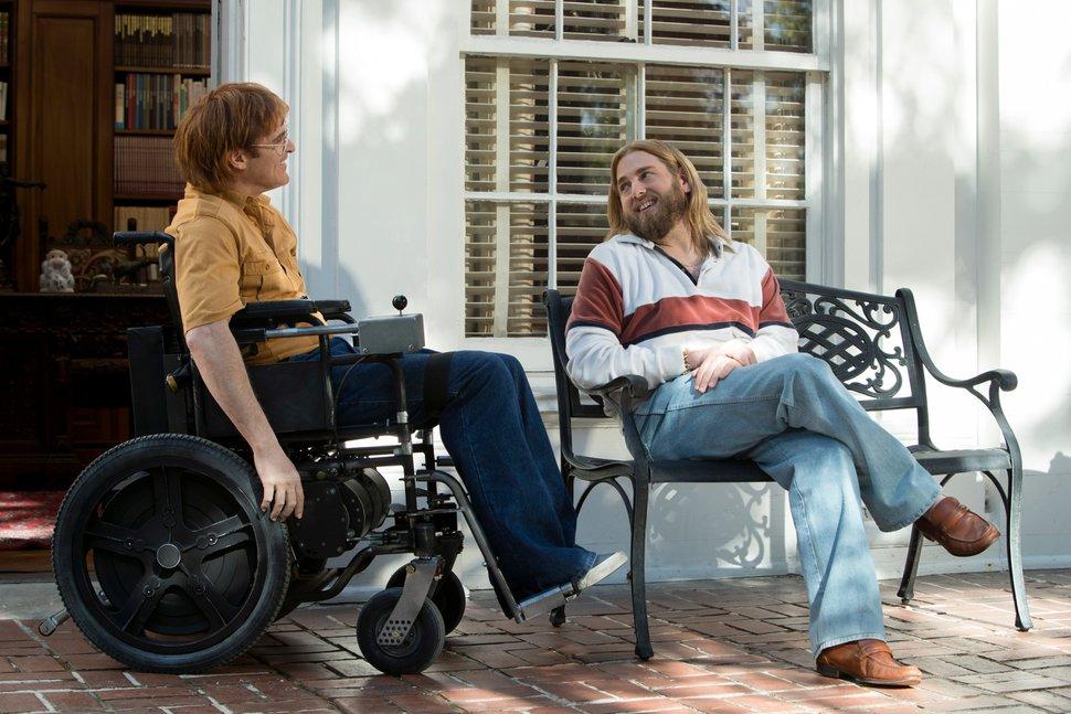 ( | courtesy Sundance Institute) Joaquin Phoenix (left) plays cartoonist John Callahan, with Jonah Hill co-starring, in Gus Van Sant's