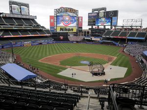(Seth Wenig | AP file photo) A mostly empty stadium is seen before the Opening Day baseball game between the Mets and the Atlanta Braves at Citi Field, Friday, July 24, 2020, in New York. Sen. Mike Lee wants to strip Major League Baseball of its antitrust exemption after the league moved the All-Star Game from Atlanta in response to Georgia's new voting law.