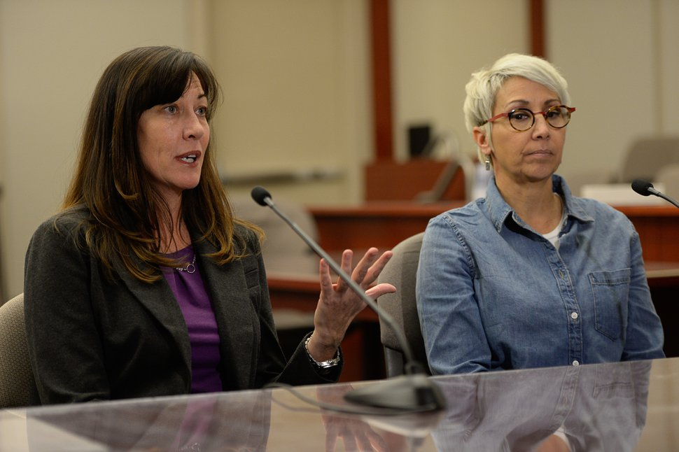 Francisco Kjolseth   The Salt Lake Tribune Jurors Melissa Smith, left, and Sandra Buendia speak with the press after finding former Utah Attorney General John Swallow not guilty on all charges in his public-corruption trial in Salt Lake City, Thursday March 2, 2017.