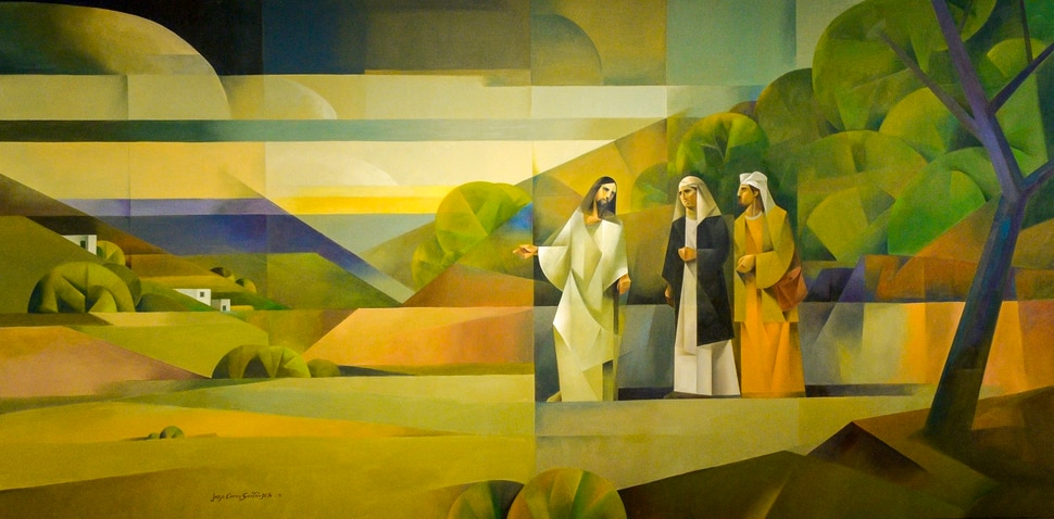 (Leah Hogsten | The Salt Lake Tribune) Jorge Cocco Sant‡ángelo's Camino a Emaus or Road to Emmaus, oil on canvas, 2018. The Church of Jesus Christ of Latter-day Saints Church History Museum presented two new art exhibits, Thursday, May 17, 2018. Paintings created by Argentine artist Jorge Cocco Sant‡ángelo and large-scale images taken by LDS Church staff photographers Cody Bell and Leslie Nilsson will be on display beginning May 17 through Oct. 9, 2018, and January 2019, respectively.
