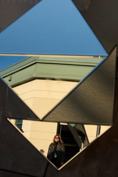 Salt Lake Tribune Editor Jennifer Napier-Pearce walks out onto the balcony of the Salt Lake Tribune before the second annual Salt Awards on Wednesday, Sept. 27, 2017 in Salt Lake City. Briana Scroggins   for The Salt Lake Tribune