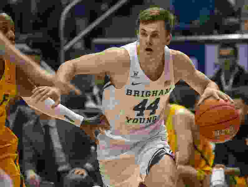 BYU men's basketball team beats Cal State Fullerton 76-58 in season opener