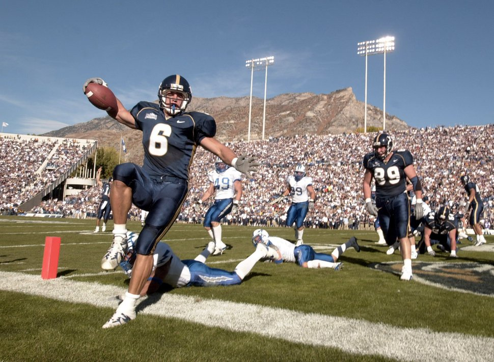 (Rick Egan | Tribune file photo) BYU's Luke Staley is seen in a game against Air Force Academy in Oct. 2001.