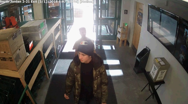 (South Jordan Police) The South Jordan Police Department is asking for help identifying two juveniles who stole handguns from Sportsman's Warehouse at 10462 S. River Heights Drive.