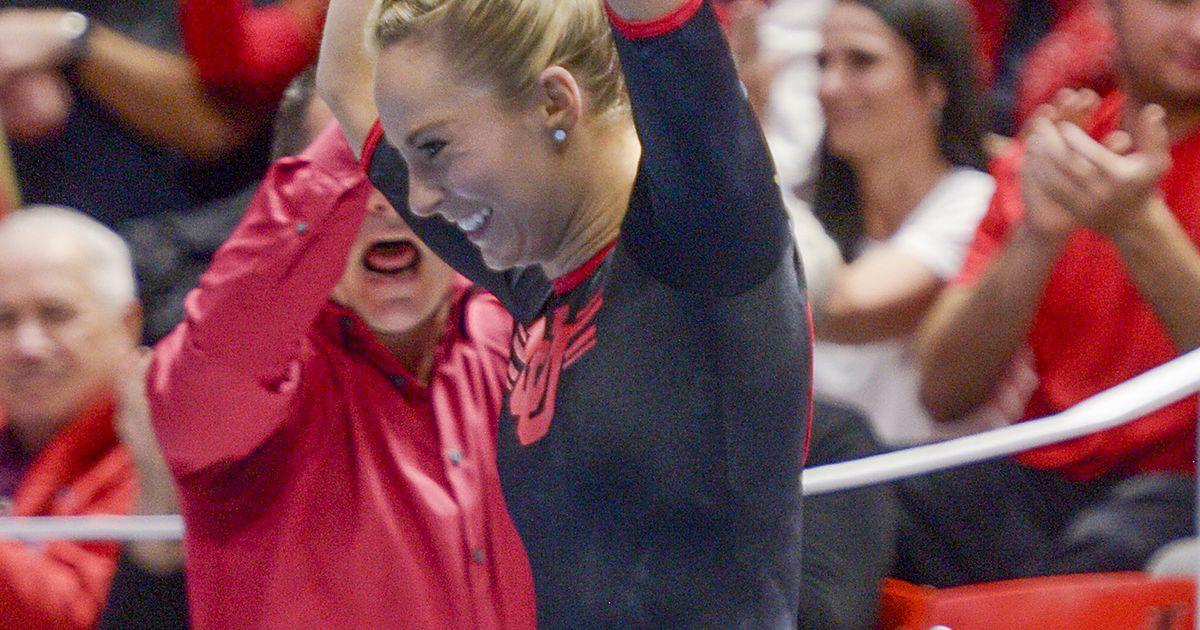 Utahs MyKayla Skinner captures another Pac-12 Gymnast of