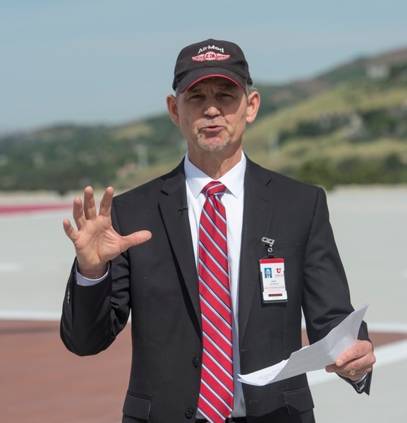(Rick Egan | The Salt Lake Tribune) Dan Lundergan, University of Utah Hospital COO talks about AirMed and 40 years of live saving care provided by the U of U AirMed crew. The University of Utah serves the single biggest geographic area of any academic medical center in the United States. Thursday, May 31, 2018.