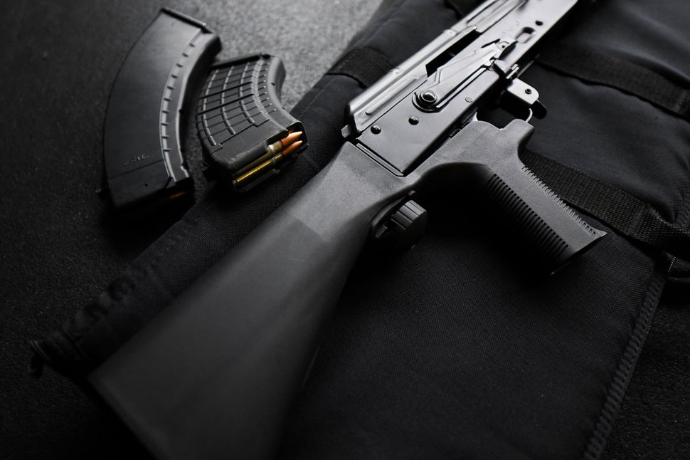 (Francisco Kjolseth | The Salt Lake Tribune) A bump stock is pictured on an AKM-47 owned by Utah gun right advocate Clark Aposhian, one of only a handful of Americans who are legally allowed to keep their bump stock, a shooting accessory that alters semi-automatic rifles to fire in quick bursts like a machine gun. He is challenging the bump stock ban in court, and an appeals court has allowed him to keep his bump stock until his case is resolved in court.