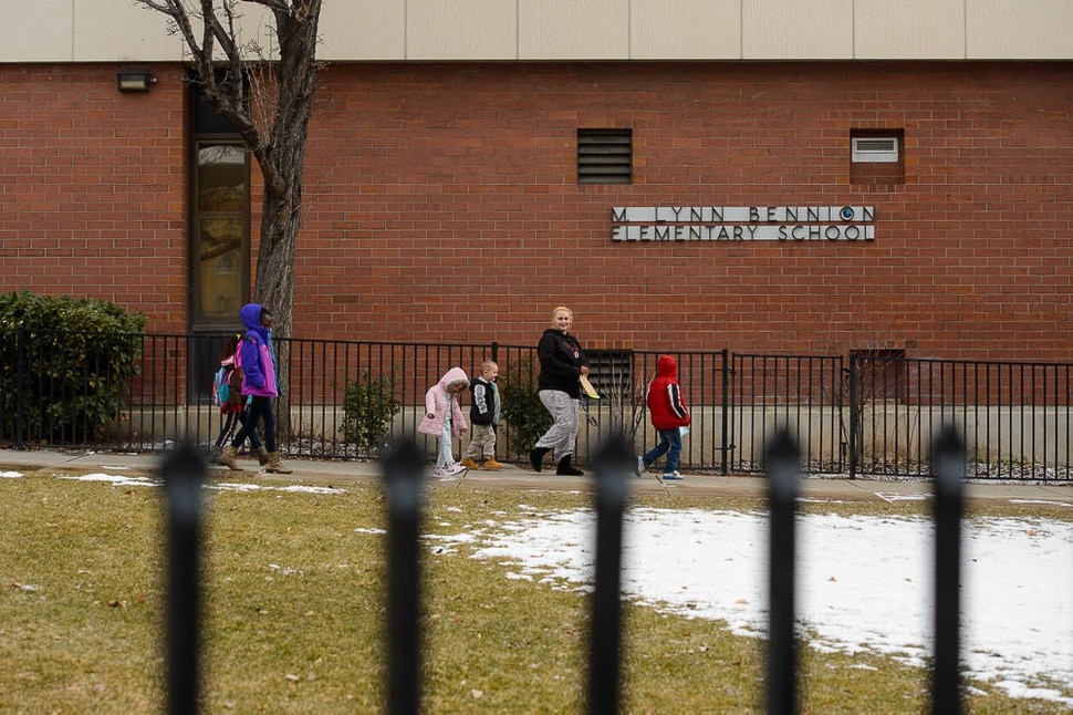 (Trent Nelson | The Salt Lake Tribune) Salt Lake City's Bennion Elementary might be closing due to low enrollment. The school district is holding a meeting Tuesday Feb. 19, 2019 to discuss the issue and hear from parents.