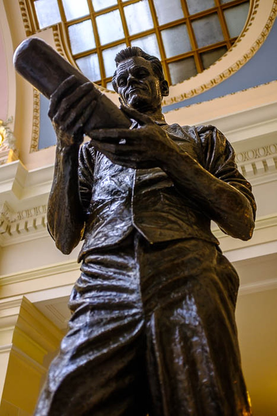 (Trent Nelson | The Salt Lake Tribune) James R. Avati's statue of Philo T. Farnsworth, known as the