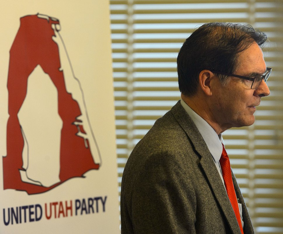 Steve Griffin | The Salt Lake Tribune Richard Davis is helping to organize a new centrist party of disaffected Republicans and Democrats called the Utah United Party. Organizers as well as several former GOP and Democratic leaders announced the new party during a news conference in the Centennial Room at the State Capitol in Salt Lake City Monday, May 22, 2017.