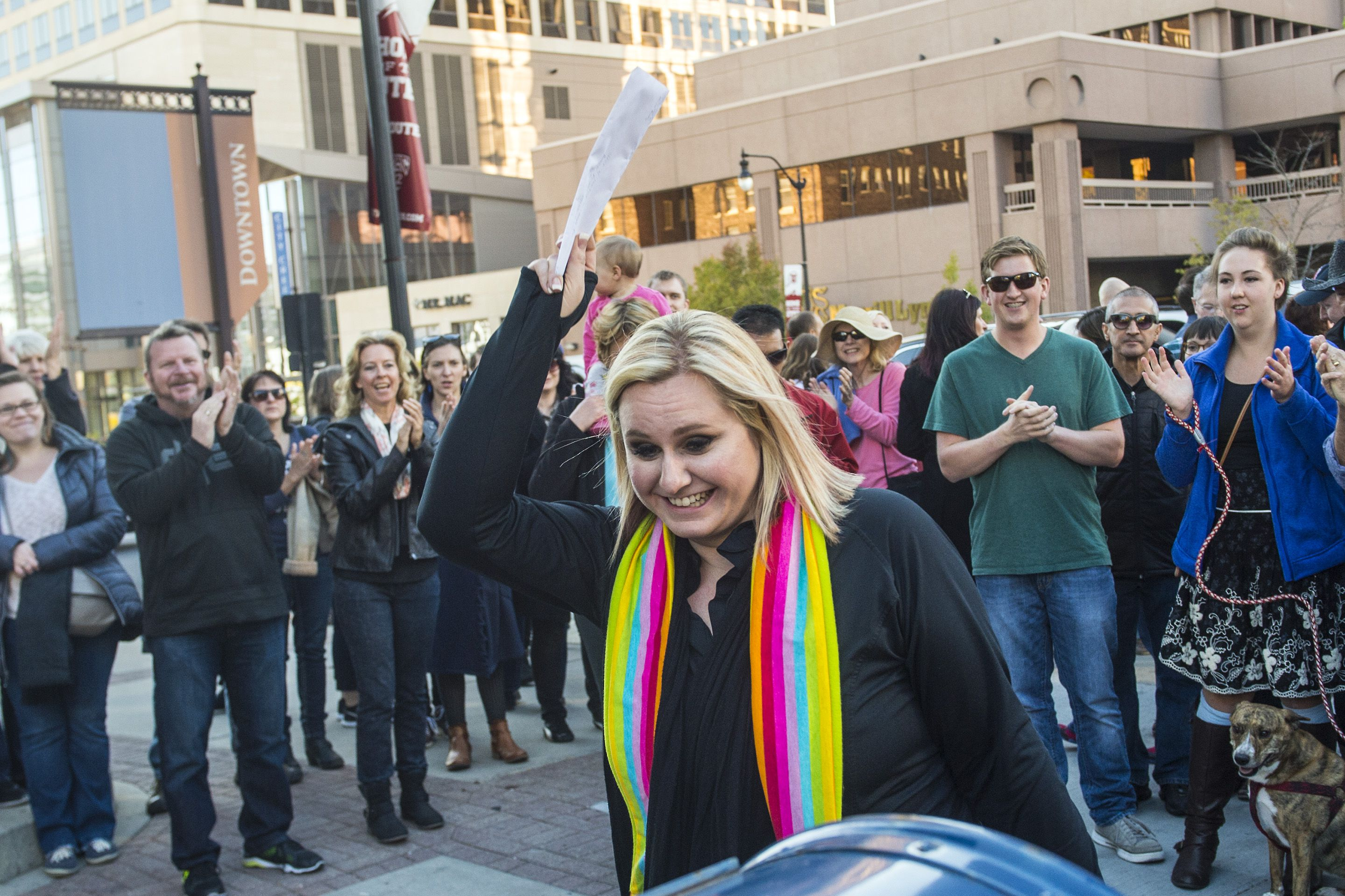 (Chris Detrick |  Tribune file photo) Sarah Epperson mails her letter of resignation from the Church of Jesus Christ of Latter-day Saints near Temple Square in Salt Lake City Saturday, Nov. 14, 2015.