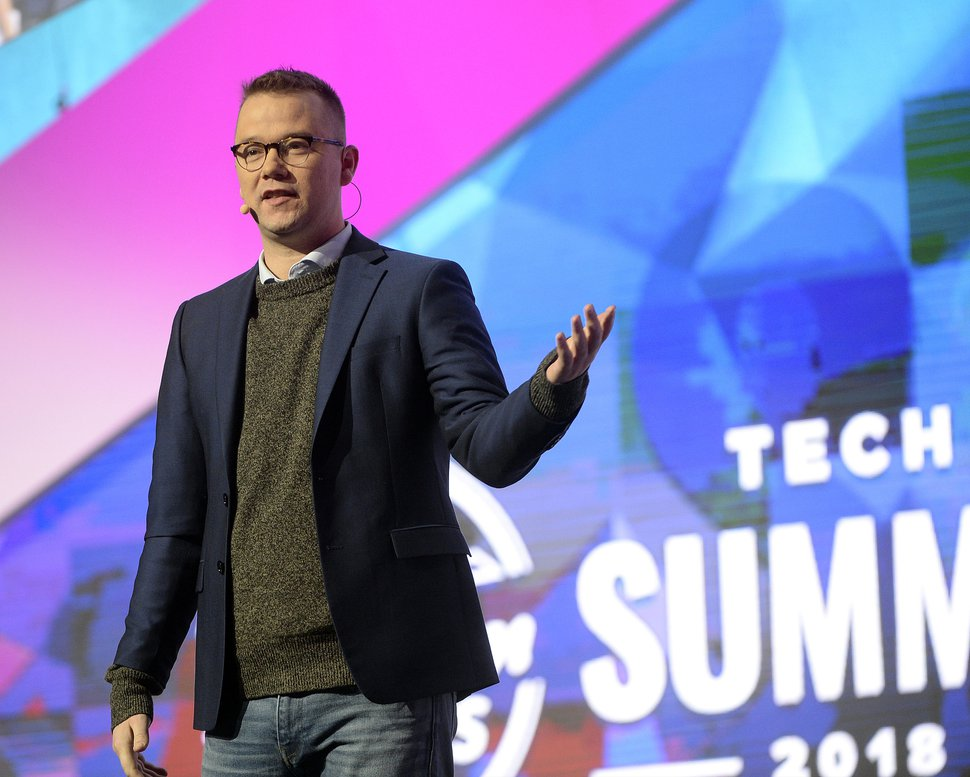 (Al Hartmann | Tribune file photo) Clint Betts, executive director of Silicon Slopes, welcomes over 14,000 to the 2018 Silicon Slopes Tech Summit at the Salt Lake Convention Center in January.