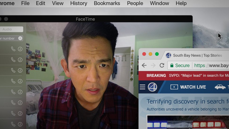 (Juan Sebastian Baron | courtesy Sundance Institute) John Cho plays a father who uses his daughter's laptop to find clues to track her after she goes missing, in Aneesh Chaganty's