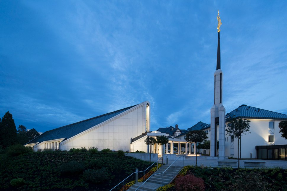 (Photo courtesy of The Church of Jesus Christ of Latter-day Saints) The newly renovated Frankfurt Germany Temple.