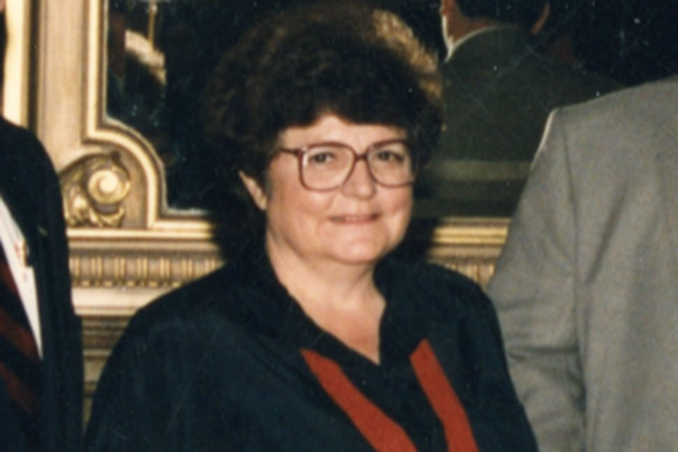 (photo courtesy Ron Fox) Sue Ferry just after the 1994 legislative session in the Capitol's Gold Room.