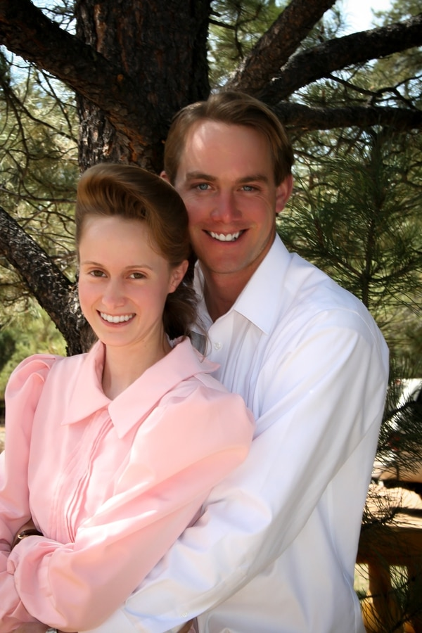 Rachel Jeffs and Richard Allred pose in this undated photo. The pair married in 2002 when the bride was 18 and the groom 25. Jeffs was the third of Allred's four wives. Courtesy HarperCollins Publishers.