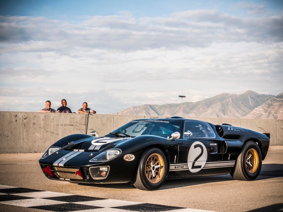 "(Photo courtesy BBC America) Matt LeBlanc, Rory Reid and Chris Harris take on a 50-year-old Ford GT40 in the season premiere of ""Top Gear."""