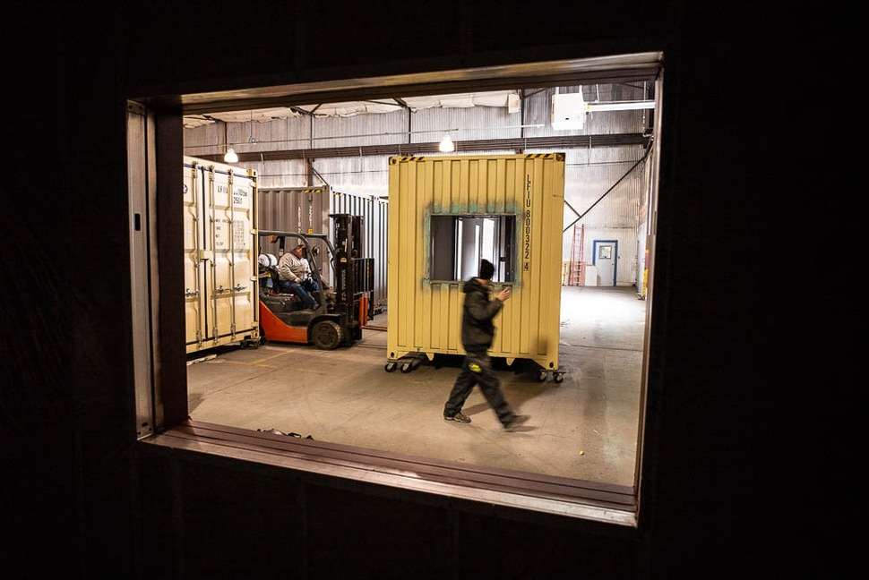 (Trent Nelson | The Salt Lake Tribune) Eco Box Fabricators, based in Salt Lake City, hopes to make viable affordable housing out of discarded shipping containers. Tuesday Jan. 15, 2019.