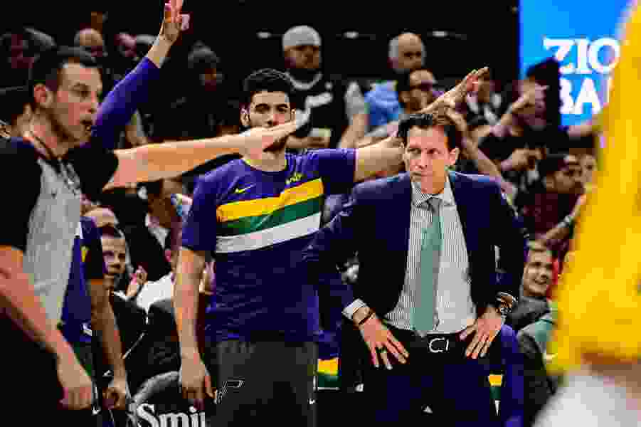 At the quarter-pole of the NBA season, the Jazz are a major disappointment, but GM Dennis Lindsey is keeping his powder dry
