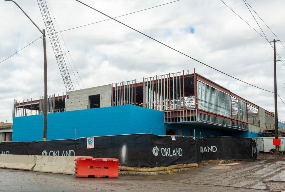 (Rick Egan | The Salt Lake Tribune) The homeless shelter under construction at 131 East, 700 South, in Salt Lake City. Friday, Dec. 21, 2018.