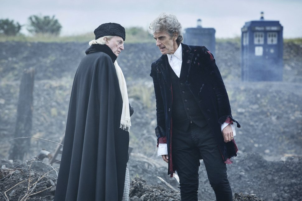 "(Simon Ridgway | BBC Worldwide Limited via Associated Press) Actors David Bradley and Peter Capaldi in a scene from the 2017 Christmas episode of the show ""Doctor Who."" Bradley, who also co-starred in the"