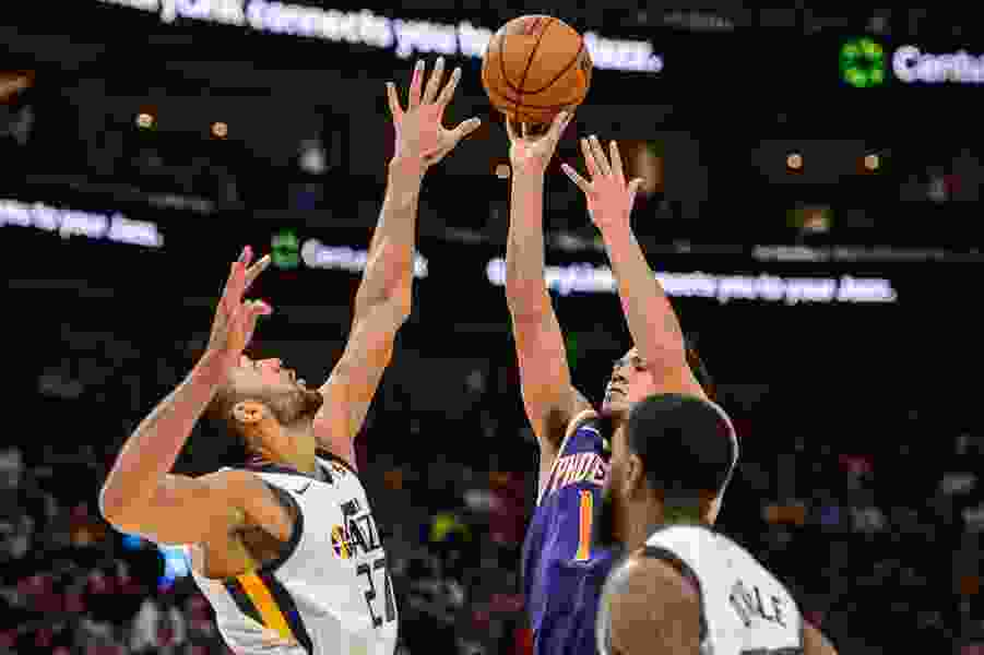 The Triple Team: Devin Booker scored 59 in a myriad of ways, does that worry the Jazz? Plus thoughts on Rubio and Jimmer's play in a 33-point Jazz win.