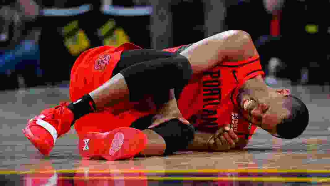 Portland's Rodney Hood hopes to be ready for Game 1 at Golden State after hyperextending knee