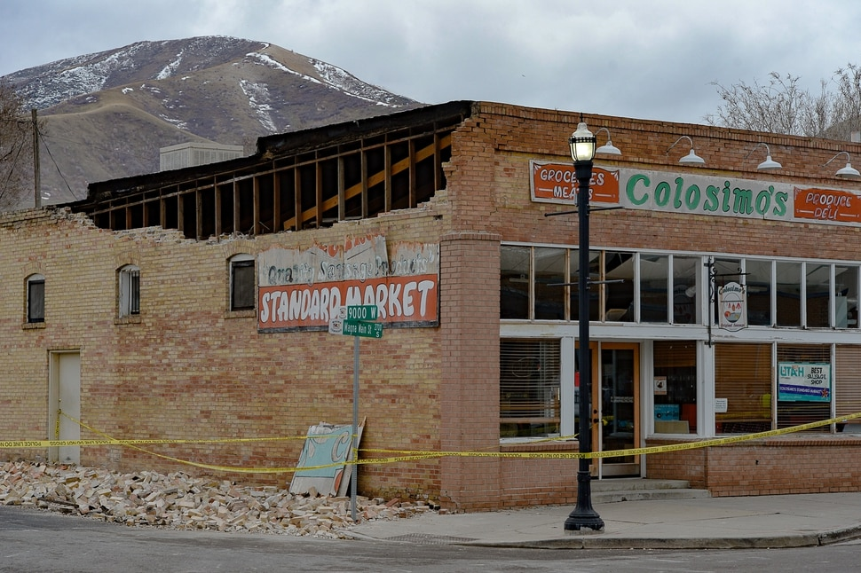 (Francisco Kjolseth | The Salt Lake Tribune) Damage can be seen in Magna, the epicenter of a 5.7 magnitude earthquake on Wednesday morning, March 18, 2020, especially along historic Main Street.