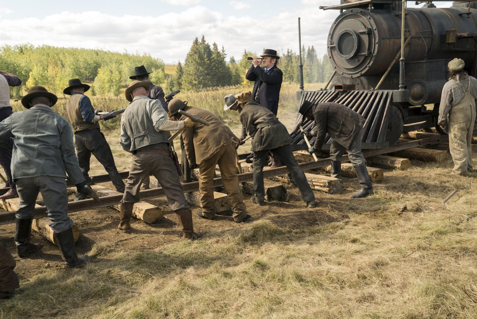 Chris Large | AMC Construction is completed on the transcontinental railroad in the series finale of