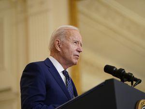 (Andrew Harnik   AP) President Joe Biden speaks in the East Room of the White House, in Washington, Thursday, April 15, 2021.