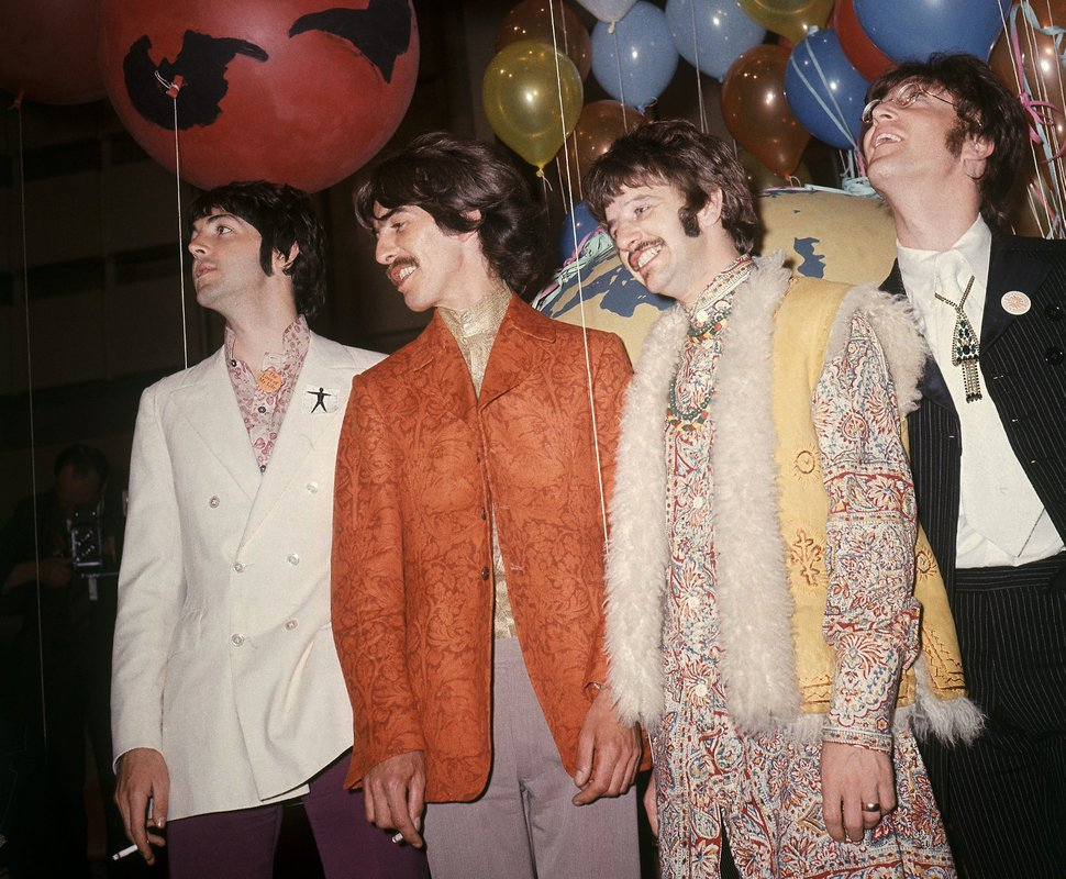 AP file photo From left, the Beatles' Paul McCartney, George Harrison, Ringo Starr, and John Lennon