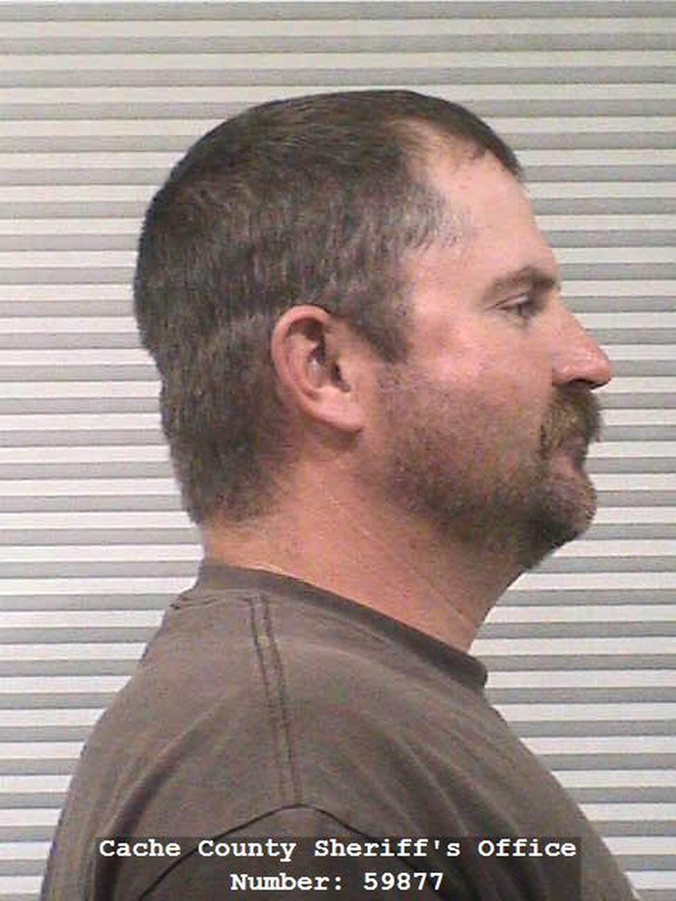 (Photo courtesy Cache County Jail) Jason Whittier on Oct. 2 pleaded no contest to class B misdemeanor aggravated cruelty to an animal after he left his police dog, Endy, in a hot patrol truck in July.