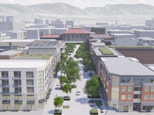 (Salt Lake City Redevelopment Agency) Salt Lake City and the University of Utah have ambitious plans, as this rendering shows, to create a new university-run innovation district west of Rio Grande Depot, giving Utah's flagship university a major presence downtown.