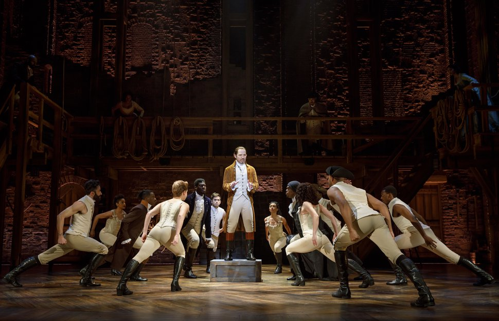(Courtesy photograph by Joan Marcus) | Joseph Morales and Nik Walker led the second national tour of Hamilton as Alexander Hamilton and Aaron Burr, which played Salt Lake City's Eccles Theater in 2018.