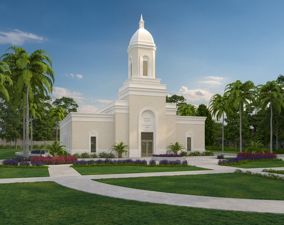 (Photo courtesy of The Church of Jesus Christ of Latter-day Saints) Rendering of the San Juan Puerto Rico Temple.