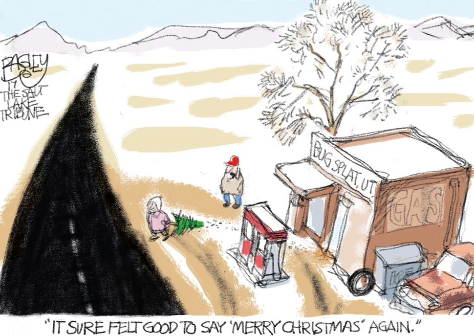 This Pat Bagley cartoon appears in The Salt Lake Tribune on Thursday, Dec. 28, 2017.