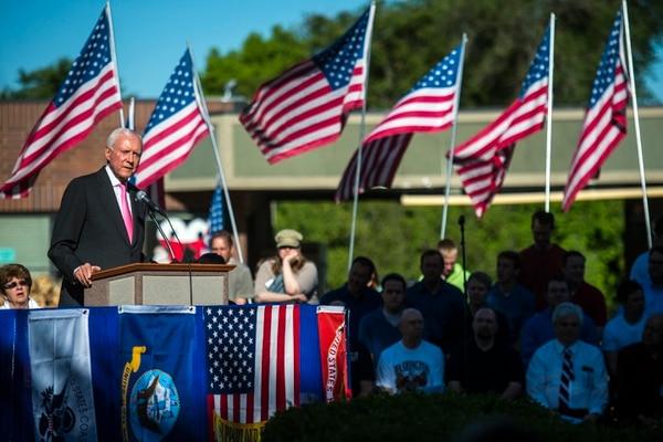 Chris Detrick | Tribune file photo Utah Sen. Orrin Hatch speaks during a Memorial Day celebration at Hogan Park in Woods Cross on Monday May 26, 2014.