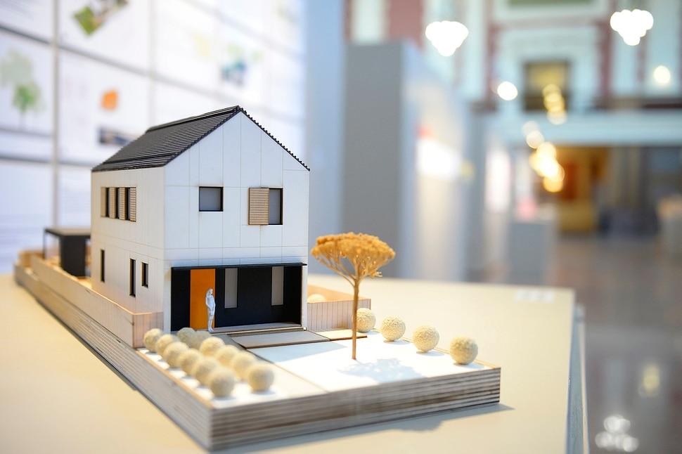 (Chris Samuels | The Salt Lake Tribune) Atelier Jörg Rügemer's The Slim House is on display at a showcase for Utah Design Arts at the Rio Grande Depot in Salt Lake City, Sept. 12, 2019.