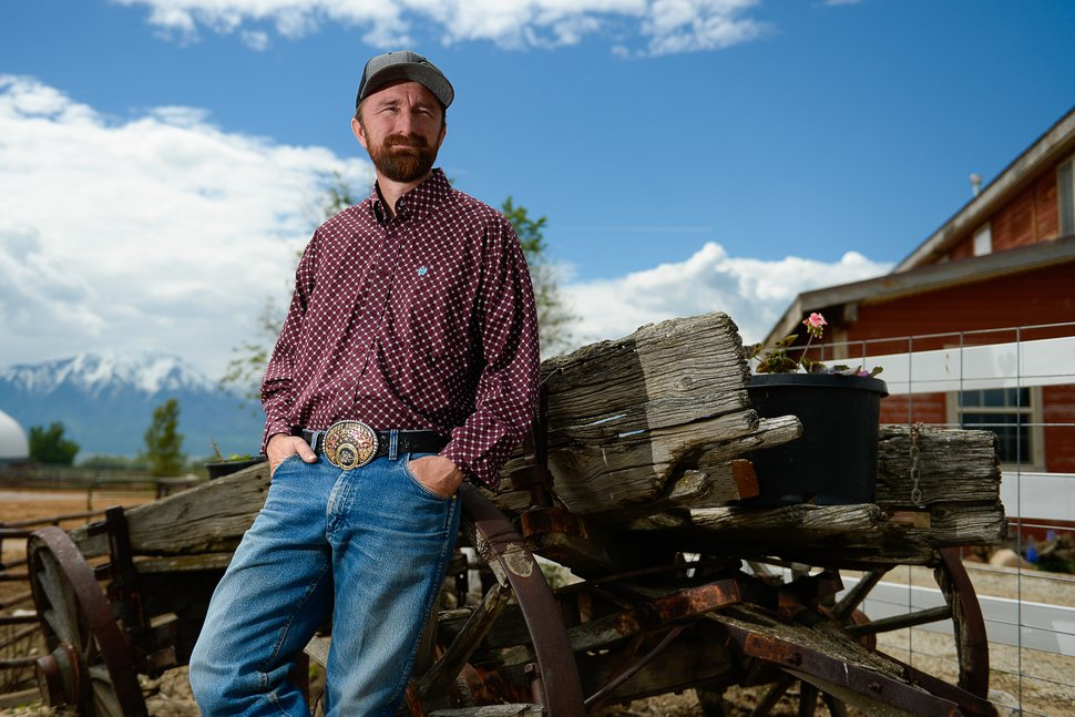 (Francisco Kjolseth   The Salt Lake Tribune) Utah County Commissioner Nathan Ivie spends time on his horse ranch in Benjamin, Utah as he talks about his work and commitment to public office. The Republican lawmaker in a heavily-Mormon area of Utah has publicly come out as gay. Ivie said his announcement, Wednesday, May 22, 2019, was inspired in part by his work with families who have lost gay children to suicide.