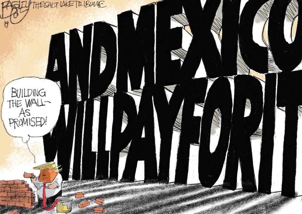 This Pat Bagley cartoon appears in The Salt Lake Tribune on Sunday, Feb. 17, 2019.
