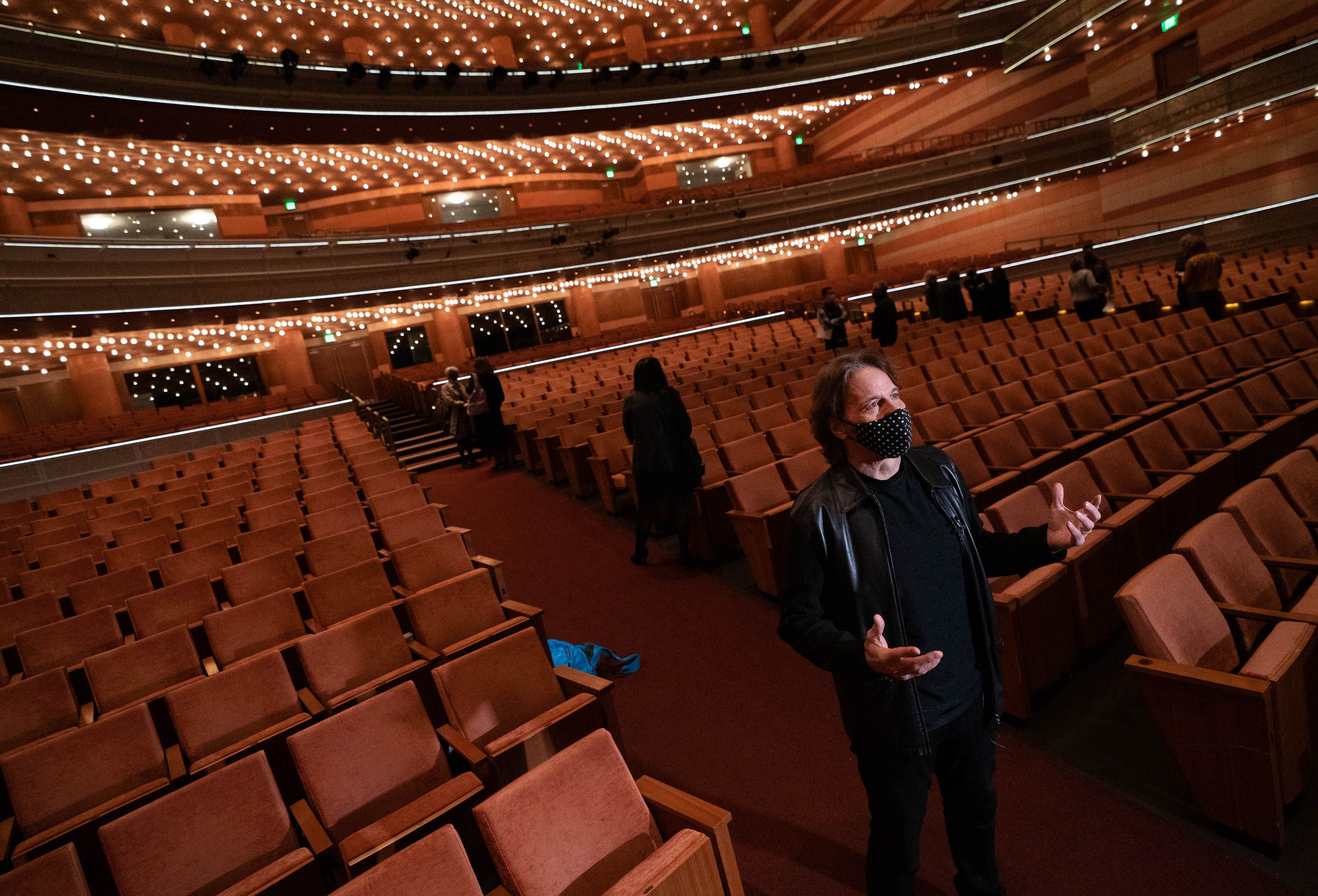 (Francisco Kjolseth  | The Salt Lake Tribune) Emmy Award-winning Utah composer Kurt Bestor talks about the upcoming season as the Eccles Theater announces the venue's first shows since the COVID-19 pandemic began, during a press event on Wednesday, March 24, 2021.
