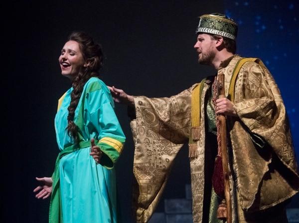 (Rick Egan   The Salt Lake Tribune) Katerina Nelson as Sariah and Daniel Lofgren as Artaban in