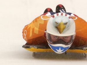 (Trent Nelson   The Salt Lake Tribune) Jim Shea competes in men's skeleton at the 2002 Olympic Winter Games, Wednesday, Feb. 20, 2002.