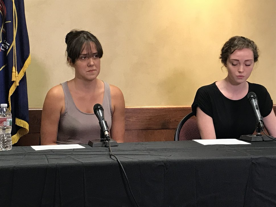 (Courtney Tanner | The Salt Lake Tribune) Katie, left, and Halie Merrill talk about their mother, Jill Robinson, a code-enforcement officer in West Valley City who was killed Aug. 9, 2018.