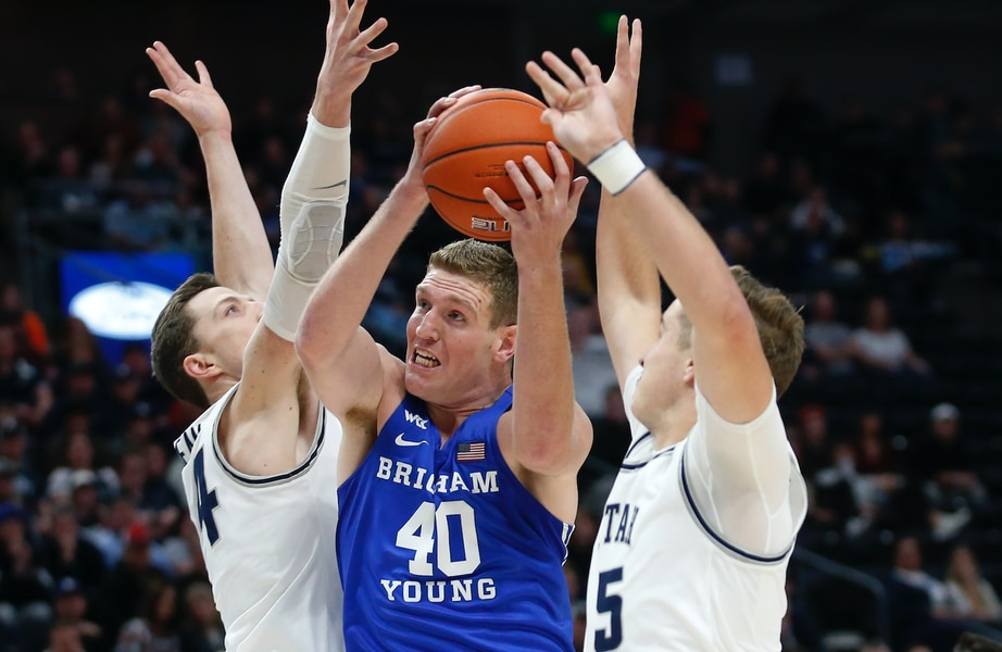 BYU outlasts Utah State 68-64 in Beehive Classic thriller at Vivint Arena