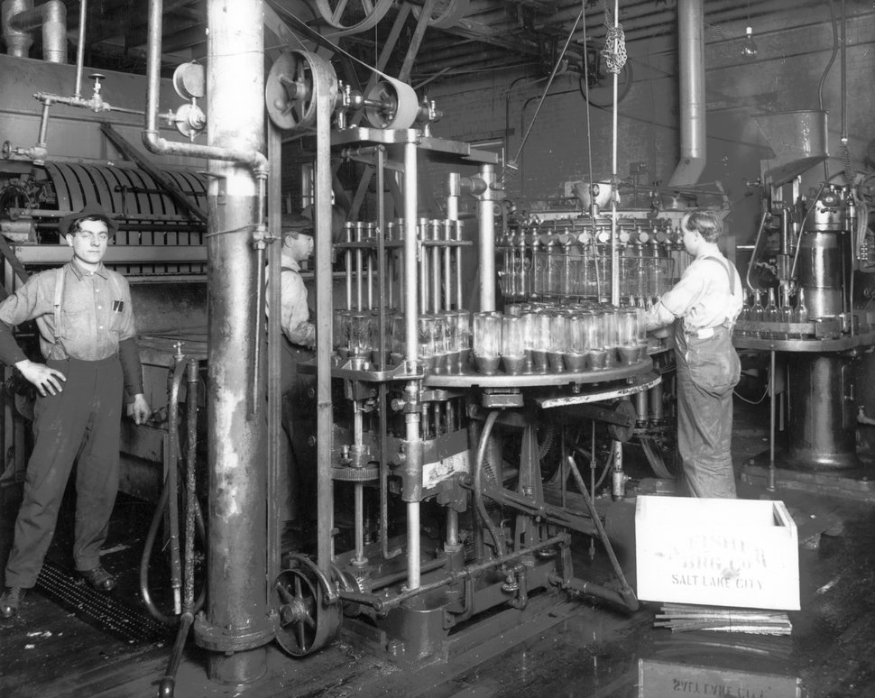 Courtesy | Utah Historical Society By 1900, the A. Fisher Brewing Company was bottling its lager beer at its brewery on 200 South on the east bank of the Jordan River.
