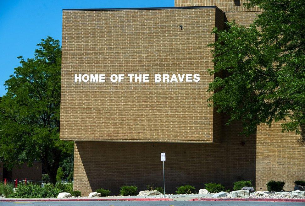 (Rick Egan | The Salt Lake Tribune) Bountiful High School, home of the Braves, Monday, July 6, 2020.