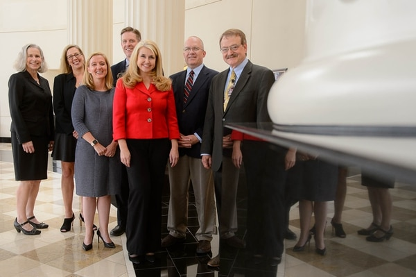 (Trent Nelson | The Salt Lake Tribune) Utah Court of Appeals justices, from left, Kate Toomey, Michele Christiansen, Jill Pohlman, Ryan Harris, Diana Hagen, David Mortensen, and Gregory Orme, in Salt Lake City Tuesday August 8, 2017.