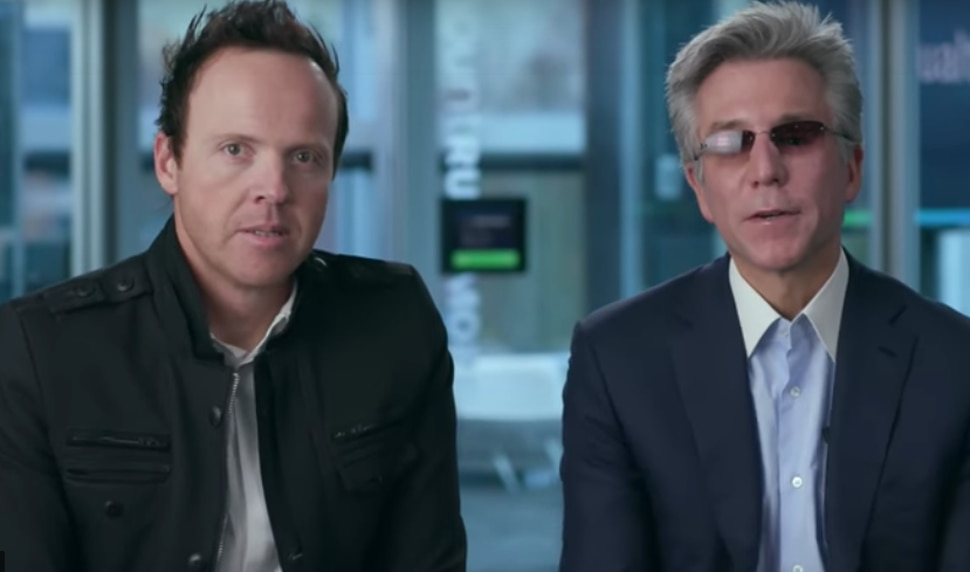 (Photo courtesy of XOData.com) Ryan Smith, CEO of Provo-based Qualtrics, and Bill McDermott, CEO of SAP, as seen in a video discussing the business potential of German-based SAP's $8 billion acquisition of Qualtrics, announced a week ago.