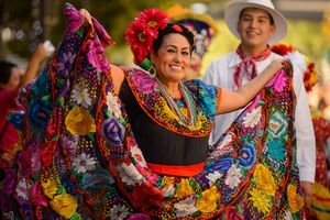 (Trent Nelson | The Salt Lake Tribune)  Dancers in the third annual Hispanic Heritage Parade and Street Festival in Salt Lake City, Saturday Sept. 22, 2018.